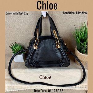 Chloe Black Leather Shoulder bag Crossbody Paraty